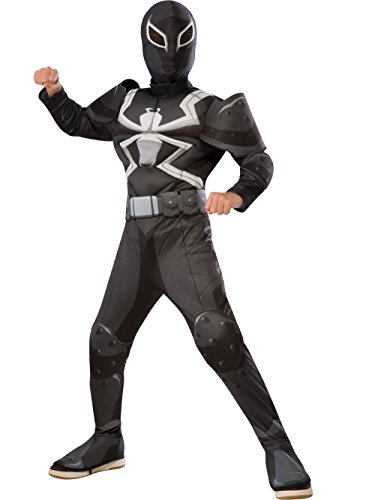 Rubie's Ultimate Spider-Man Agent Venom Deluxe Children's Costume Jumpsuit -