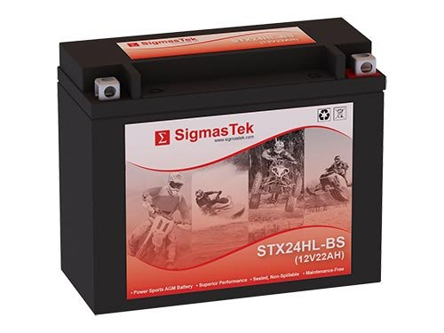 12 Volt 22 Amp Hour Sealed Lead Acid Battery Replacement with NB Terminals by SigmasTek STX24HL-BS