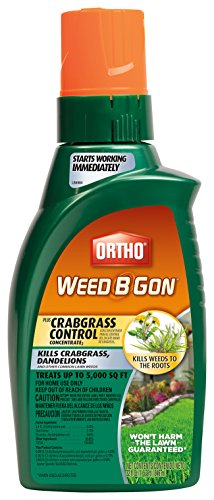 Ortho Weed B Gon Weed Killer for Lawns Plus Crabgrass Control Concentrate 32oz (Not Sold in HI, (B-gon Max Concentrate)