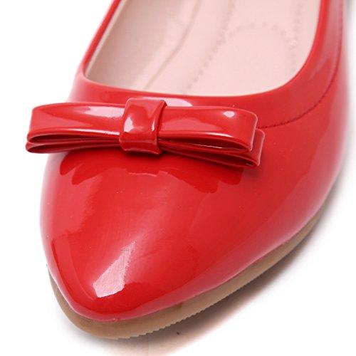 SmilunWbfj006 - Zapatillas de casa Mujer Rojo