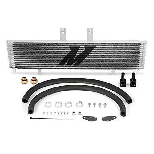 (Mishimoto MMTC-DMAX-03SL Silver Transmission Cooler for Chevrolet/GMC 6.6L Duramax (LB7/LLY) 2003-2005)
