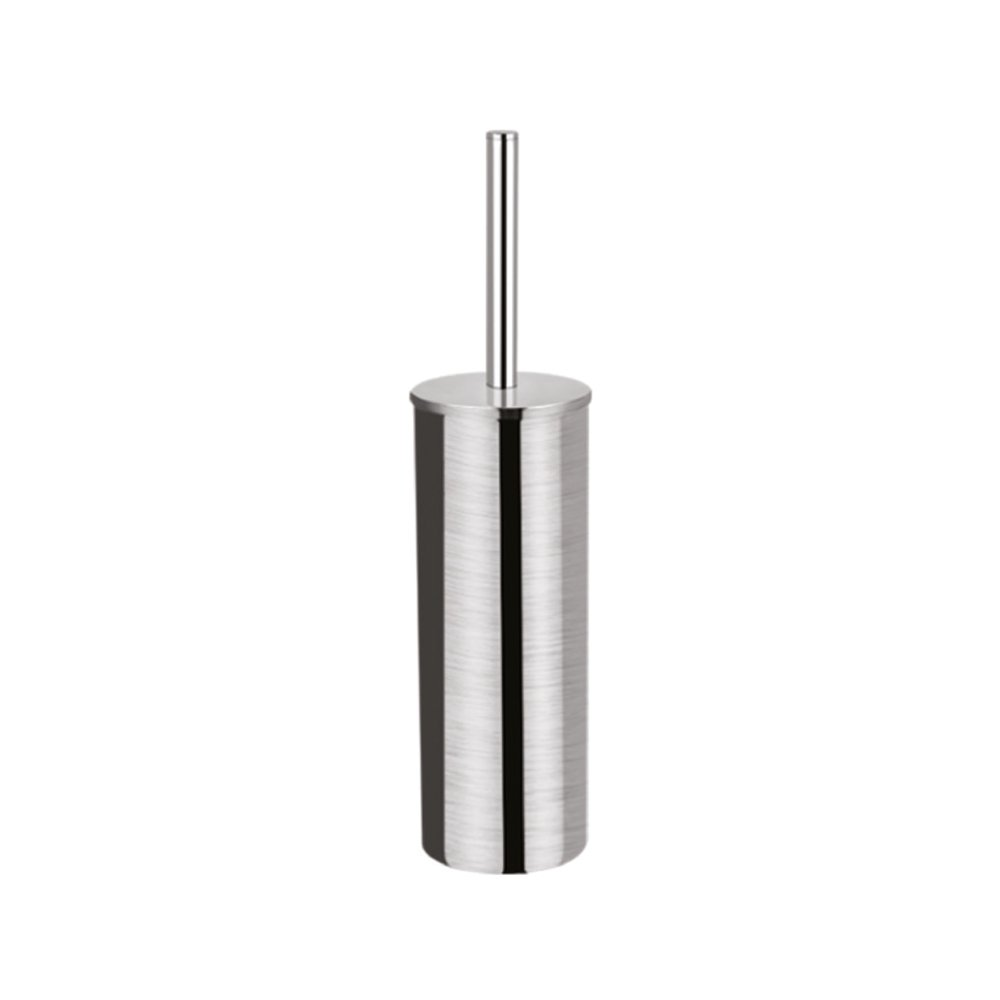 qinisi 304 Stainless Steel Toilet Brush and Holder for Bathroom Home Hotel Style Brushed