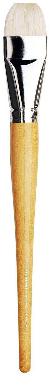 da Vinci Hog Bristle Series 7200 Maestro Artist Paint Brush, Bright Extra-Short Hand-Interlocked with Natural Polished Handle, Size 30