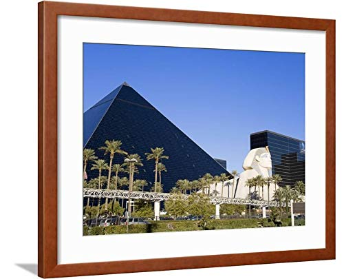 ArtEdge Luxor Hotel and Casino, Las Vegas, Nevada, United States, North America by Richard Cummins, Brown Matted Wall Art Framed Print, 18 x 24