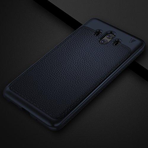 Funda Huawei Mate 10, KuGi anti-rasca la Carcasa del teléfono TPU del de la imitación ninguna Case del teléfono móvil caja del teléfono Cover para Huawei Mate 10 Smartphone, (Negro) Azul