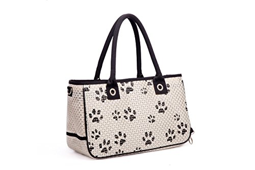 Pet Carrier Bag - White and Black Travel Pet Carrier For Small Animals, Dogs and Cats (Carrier Specialty)