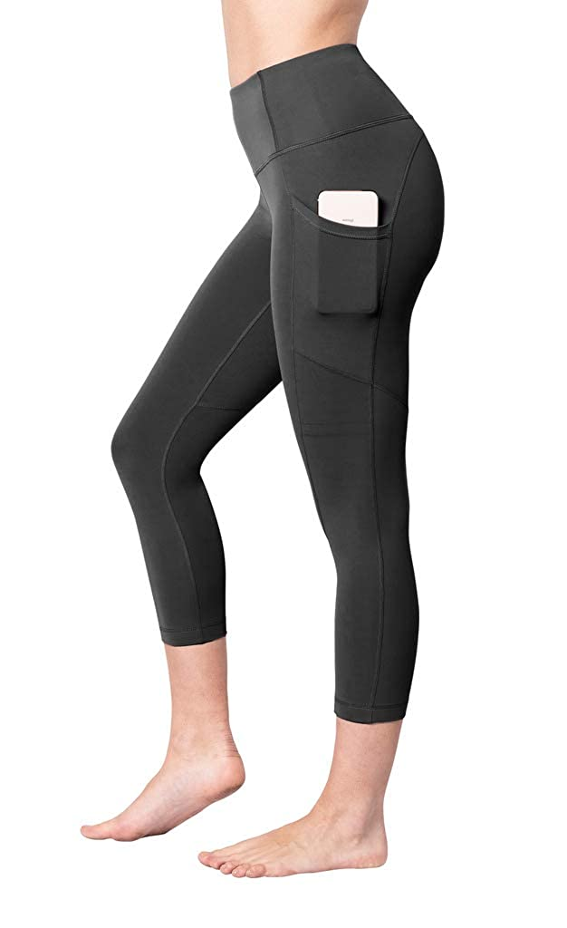 Black With Pocket Yogalicious 22  High Waist Yoga Capris  Yoga Leggings  Yoga Capris for Women