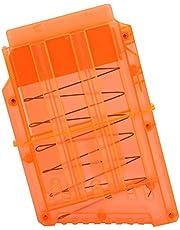 Delaman Bullet Clips Magazine Clip Quick Reload Mega Magazine Clip, Portador de Pistola de Juguete Soft Bullets Storage, Naranja