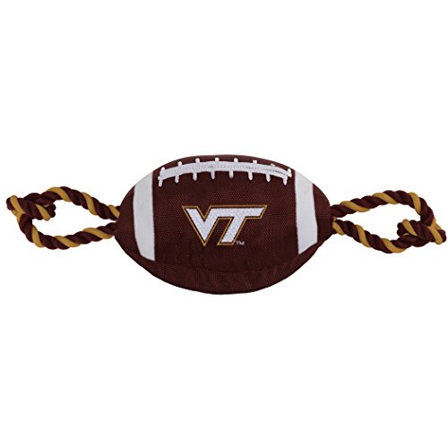 - Pets First NCAA Virginia TECH Hokies Football Dog Toy, Tough Quality Nylon Materials, Strong Pull Ropes, Inner Squeaker, Collegiate Team Color