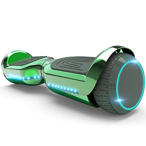 All-New Hoverstar HS2.0 Hoverboard Two-Wheel Self Balancing Flash Wheel Electric Scooter with Wireless Bluetooth Speaker (Chrome Green)