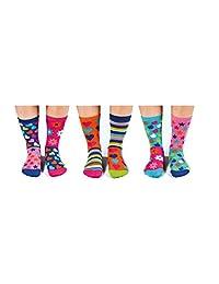 Hop Skip & Funk Box 6 Oddsocks For Girls US 13.5-8