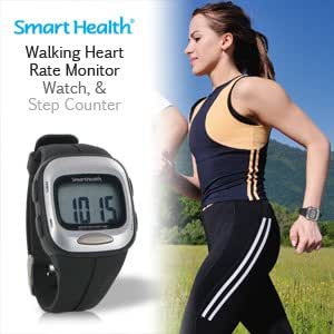 Smart Health Walking Heart Rate Monitor, Watch and Step Counter All-in-One