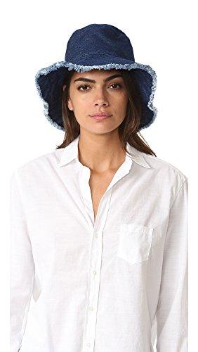 Hat Attack Women's Frayed Edge Crusher Hat, Dark Denim, One Size
