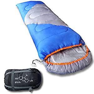 Mountaineers Outdoor Sleeping Bag, 4 Season, XL Pillow Pocket & Water Resistant Outer Shell – Including Foot Zipper…