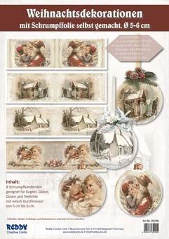 Schrumpfbanderolen 8 Stuck Weihnachten 4 Motive Je 2x O 6cm Amazon