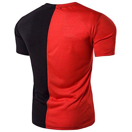 Loisir Tee Fit Mode Courte shirt Casual A T 2019 Ciellte Tops Manche Chemise Homme Mince rouge Shirts Haut Décontracté z0xSqgwZ