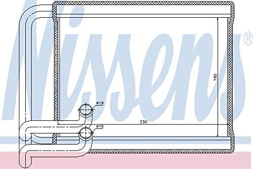 Nissens 77534 Heat Exchanger, interior heating