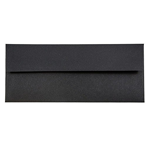 Black Lined Envelope - JAM Paper #10 Business Envelope - 4 1/8