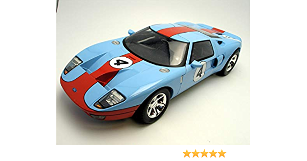 GULF OIL Racing Ford GT Concept #6 Die-cast Car 1:24 Motormax 8 inch 79641