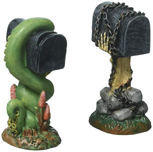 Department 56 Halloween Collections Creepy Mailboxes Figurine Village Accessory, Multicolor