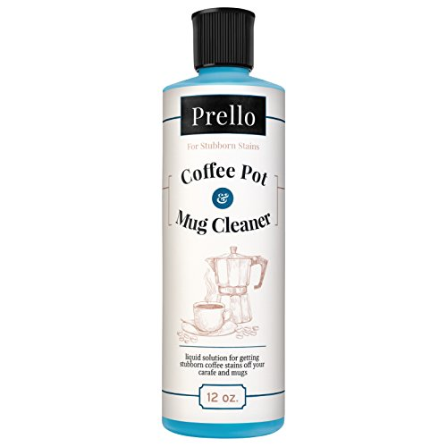 Coffee Pour Over Urn (Prello Coffee Pot & Mug Cleaner | Coffee Maker Cleaner, Machine Descaler and Stain Remover for Carafes, Cups, Mugs)