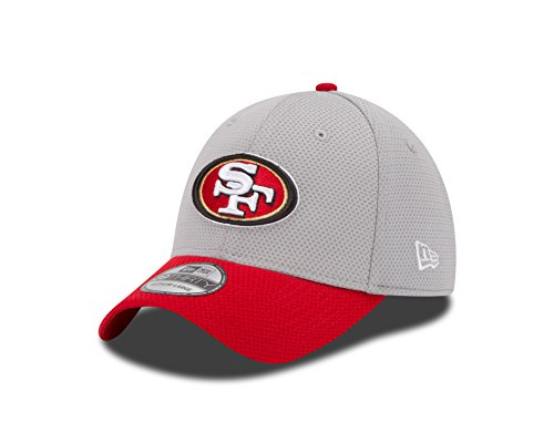 San Francisco 49ers Training Camp - NFL San Francisco 49ers 2015 Gray Training Camp 39Thirty Stretch Fit Cap, Large/X-Large, Gray