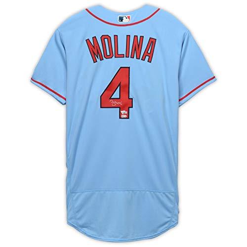 bc0d0575 Yadier Molina St Louis Cardinals FAN Autographed Signed Majestic ...