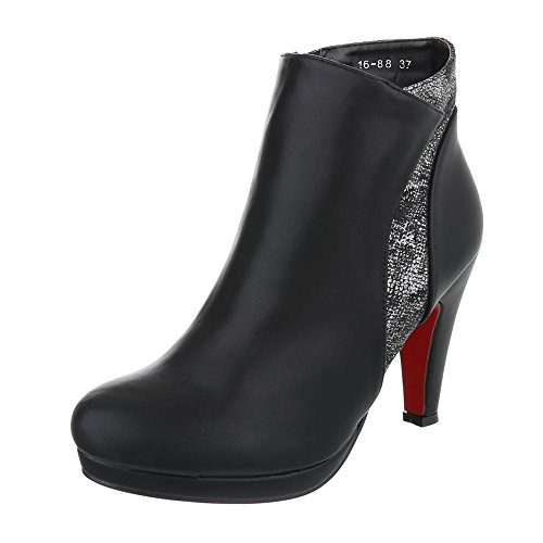 Ital-design - Femme Bottes Chelsea, Couleur Noire, Taille 37