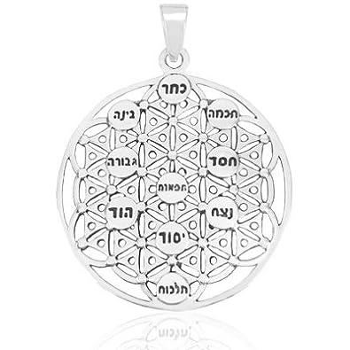 Amazon kabbalah flower of life tree of life pendant ten kabbalah flower of life tree of life pendant ten sephirot aloadofball Choice Image