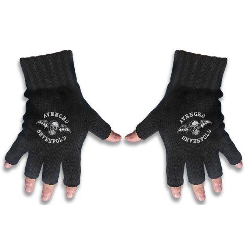 Avenged Sevenfold Fingerless Death Bat A7X Gloves Black