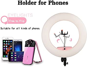 Bag Pink Yidoblo 18 Inch 96W LED Ring Light Kit FD-480 with Tripod Stand Dimmable Bicolor Photography Lighting for Photo Studio Video Portrait Selfie YouTube with Phone//Camera Bracket Makeup Mirror