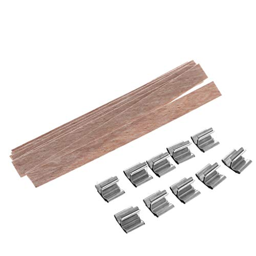 Home Decoration Craft,Candle Wood Wick with Sustainer Tab Candle Making Supply 10Pcs by Tebatu (Image #6)
