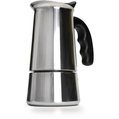 (Stainless Steel 6-Cup Stovetop Espresso Maker with Silicone Handle by Primula PES-4606)