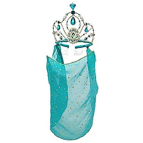 [Disney Store Princess Jasmine Tiara Crown with Veil Halloween Costume Accessory] (Princess Jasmine Costumes Tiara)