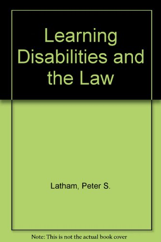 Learning Disabilities and the Law