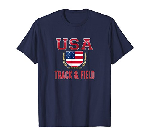 Mens USA Track & Field T-shirt Medium Navy