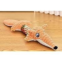 Homyu Durable Dog Squeaky Toys Dog Stuffed Toys Chew Toys for Small Medium Dog Pets (Fox)
