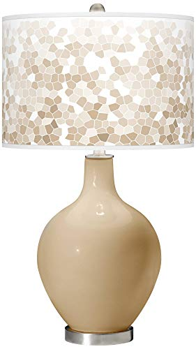 (Colonial Tan Mosaic Giclee OVO Table Lamp - Color + Plus)
