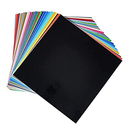 "40 Assorted Matt Colors for Cricut 12/"" X 12/"" HUAXING DECO Permanent Self Adhesive Backed Vinyl Sheets Silhouette Cameo /& Crafting Machines"