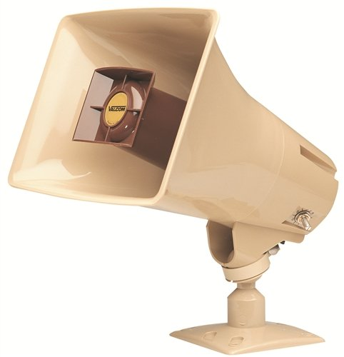 Valcom 5 Watt 1 Way Paging Horn - Beige (V-1030C)