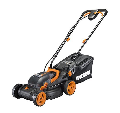 "WORX WG779 2x20V (4.0AH) Cordless 14"" Lawn Mower with Mulching Capabilities and Intellicut"