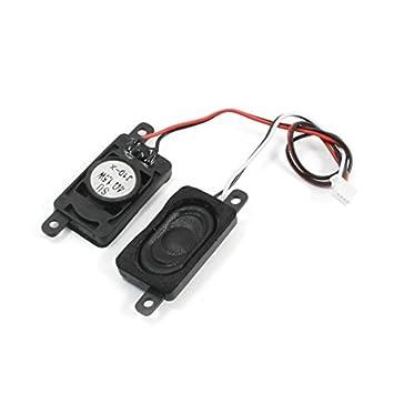 DealMux 1.5W 4 Ohm 4Pin Ligação Caso retângulo preto Speaker Magnetic Notebook Amplificador de áudio