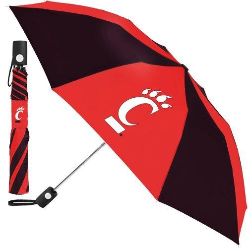 NCAA Cincinnati University of Auto Folding Umbrella, Black
