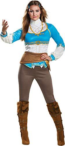 Disguise Women's Breath of The Wild Princess Zelda Movie Theme Halloween Costume, M (8-10) -