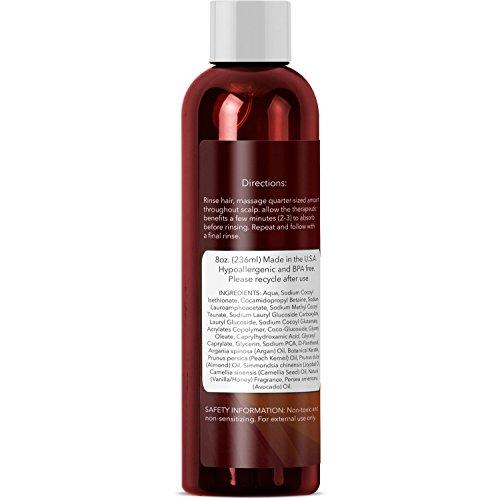 Argan Oil Shampoo, Sulfate Free, 8 oz. - With Argan, Jojoba, Avocado,...