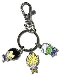 Dragon Ball Z Goku Vegeta y Piccolo de metal llavero
