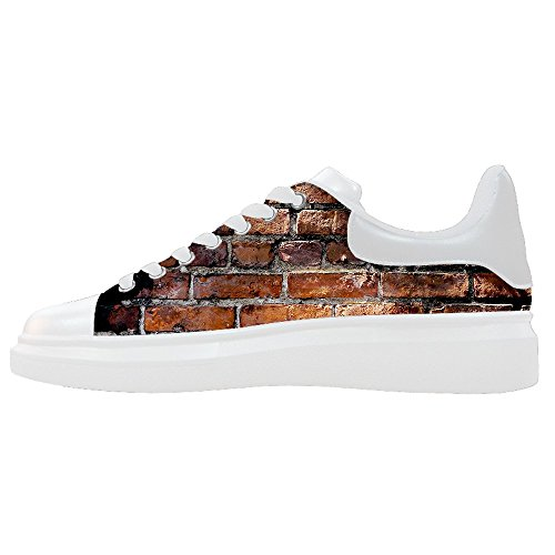 Texture De Mur De Brique Personnalisée Womens Canvas Chaussures Chaussures Chaussures Chaussures.