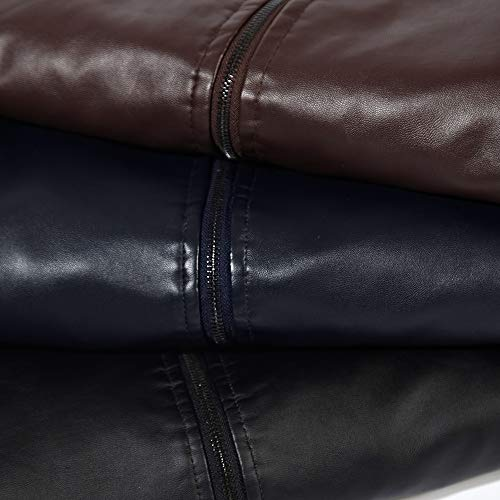 Amazon.com: Mens Winter Coats,Mens Winter Thermal PU Leather Jacket Top Coat,Winter Clothes for Men: Clothing