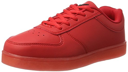 Red Sneaker Adulto amp; Low LED 03 wize Unisex ope Rosso wPIqAPF8