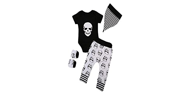 ❤ Conjunto para niños de Halloween, 4 Piezas Infantil Halloween Baby Bone Print Romper + Pants + Hat + Gloves Set Ropa Absolute: Amazon.es: Ropa y ...